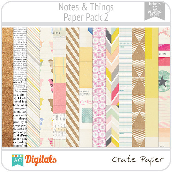 Notes & Things Paper Pack 2