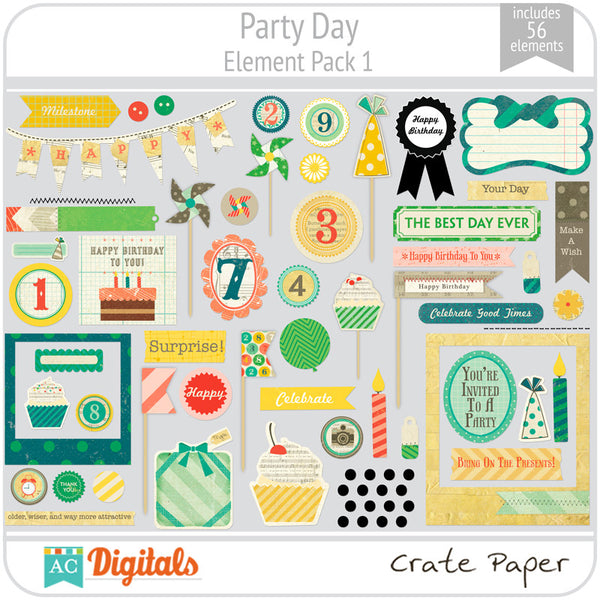 Party Day Element Pack 1