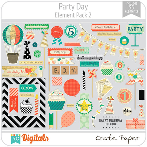 Party Day Element Pack 2