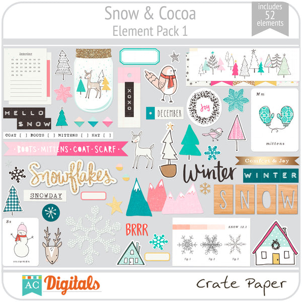 Snow & Cocoa Element Pack 1