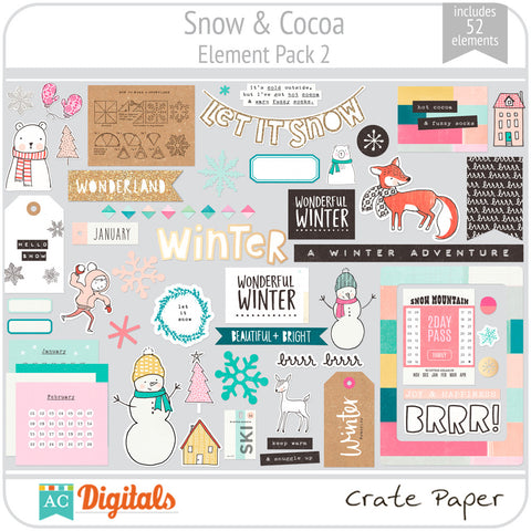 Snow & Cocoa Element Pack 2