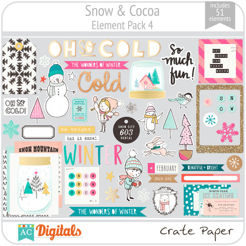 Snow & Cocoa Element Pack 4
