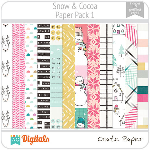Snow & Cocoa Paper Pack 1