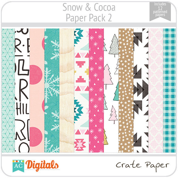 Snow & Cocoa Paper Pack 2