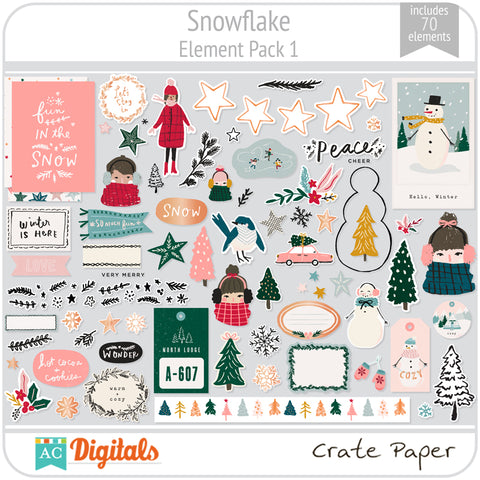 Snowflake Element Pack 1