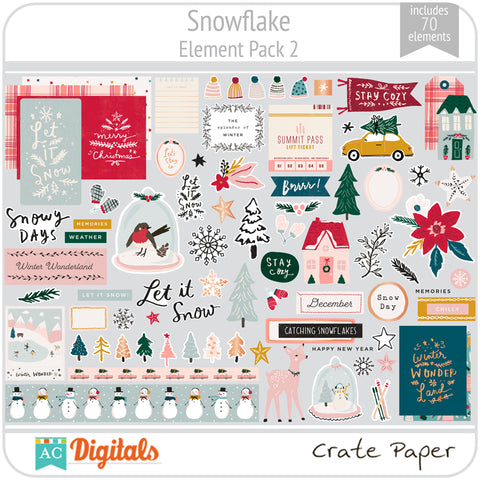 Snowflake Element Pack 2