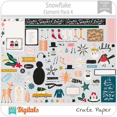 Snowflake Element Pack 4