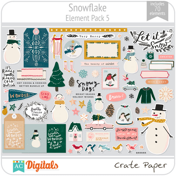 Snowflake Element Pack 5