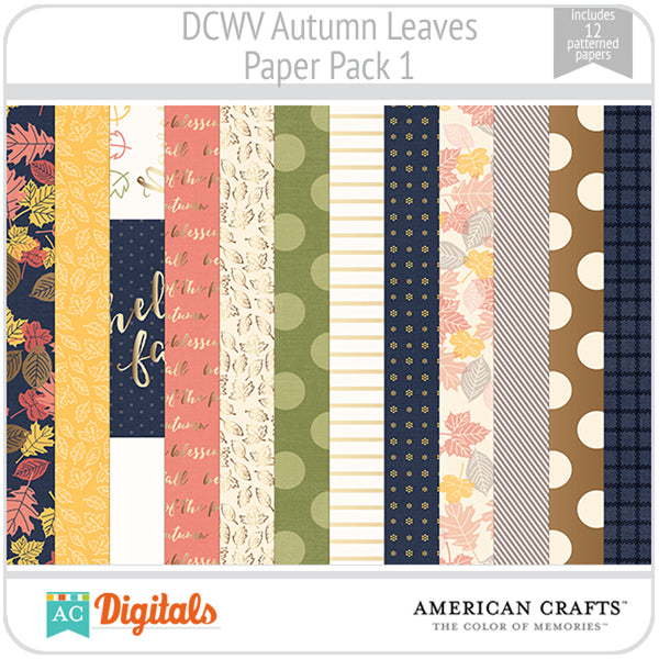 Autumn Leaves Paper Pack 1