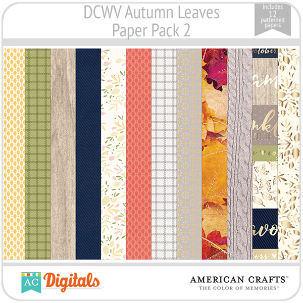 Autumn Leaves Paper Pack 2