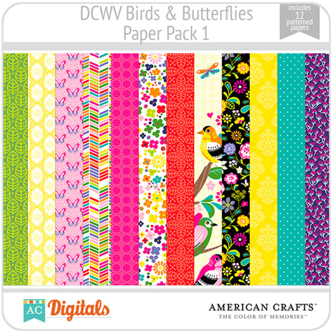 Birds & Butterflies Paper Pack 1