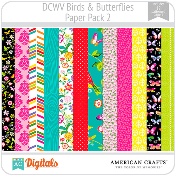 Birds & Butterflies Paper Pack 2