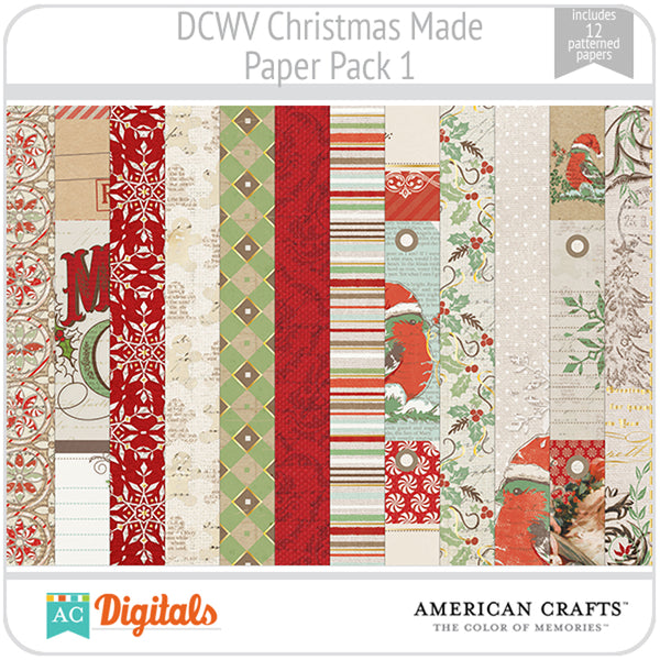 Christmas Made Paper Pack 1