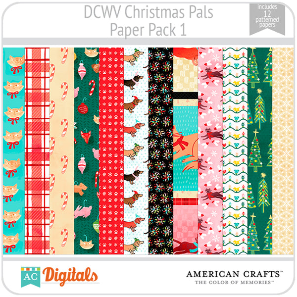 Christmas Pals Paper Pack 1