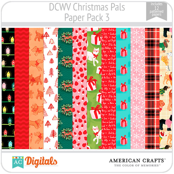 Christmas Pals Paper Pack 3