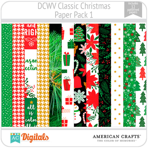 Classic Christmas Paper Pack 1