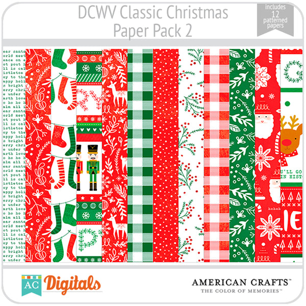 Classic Christmas Paper Pack 2