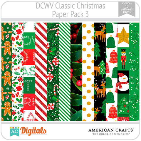 Classic Christmas Paper Pack 3