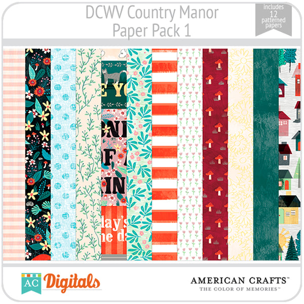 Country Manor Paper Pack 1