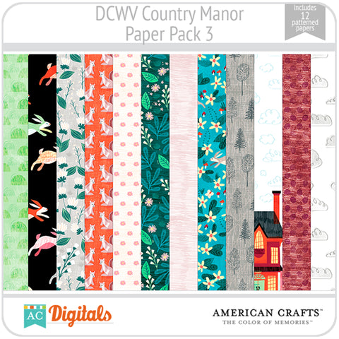 Country Manor Paper Pack 3