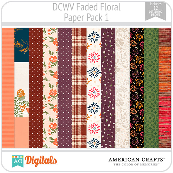 Faded Floral Paper Pack 1