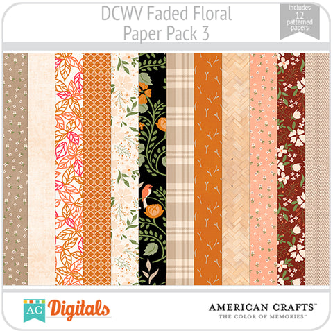 Faded Floral Paper Pack 3