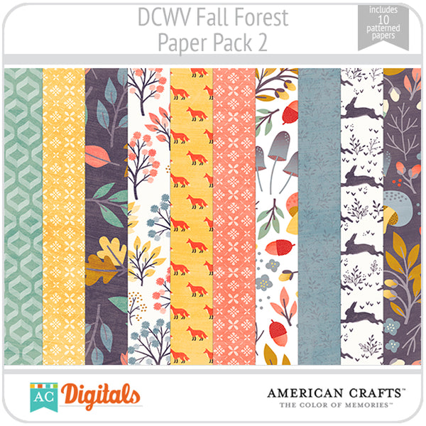 Fall Forest Paper Pack 2