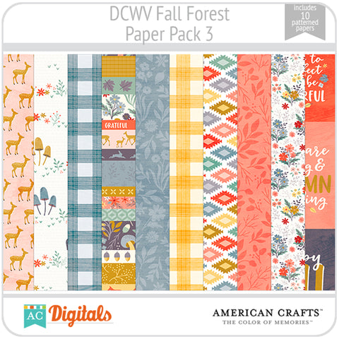 Fall Forest Paper Pack 3