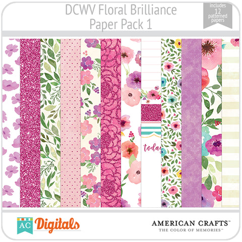 Floral Brilliance Paper Pack 1