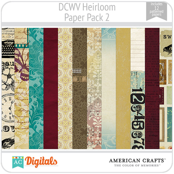 Heirloom Paper Pack 2