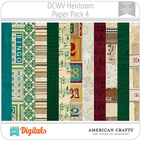 Heirloom Paper Pack 4