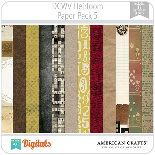 Heirloom Paper Pack 5