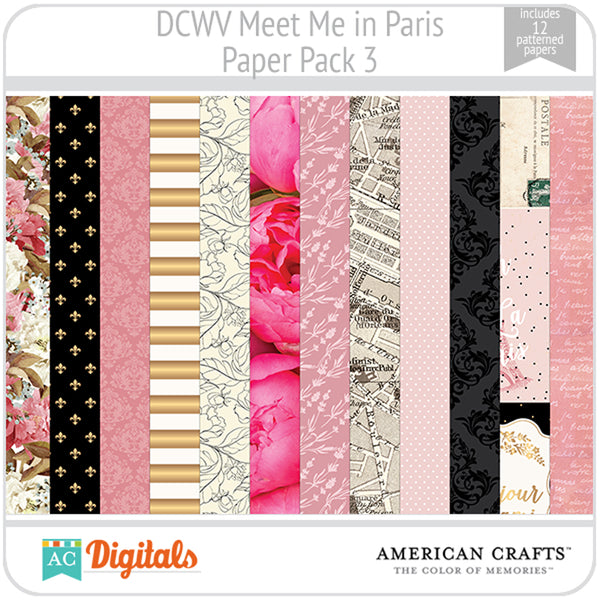 Meet Me in Paris Paper Pack 3