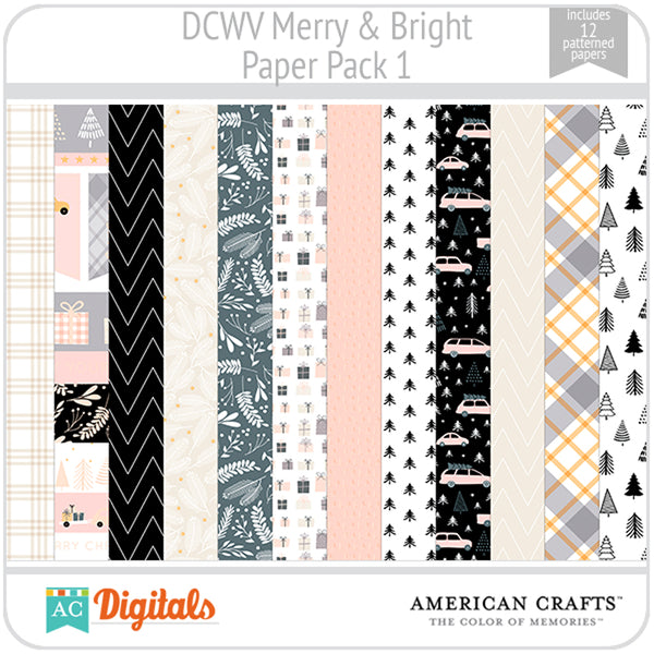 Merry & Bright Paper Pack 1