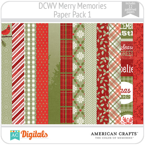 Merry Memories Paper Pack 1