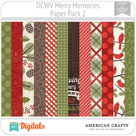 Merry Memories Paper Pack 2