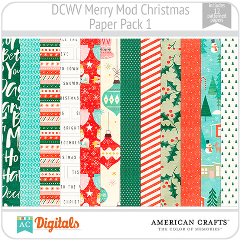 Merry Mod Christmas Paper Pack 1