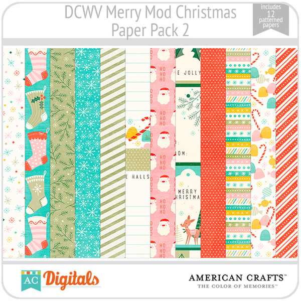Merry Mod Christmas Paper Pack 2