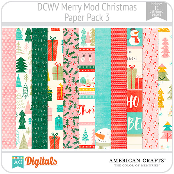 Merry Mod Christmas Paper Pack 3