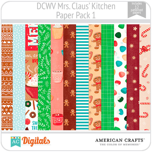 Mrs. Claus' Kitchen Paper Pack 1