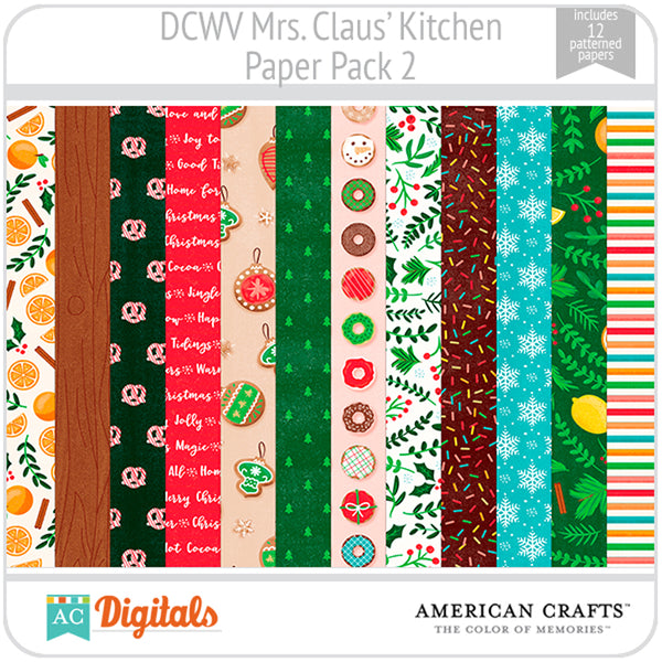 Mrs. Claus' Kitchen Paper Pack 2