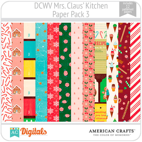 Mrs. Claus' Kitchen Paper Pack 3