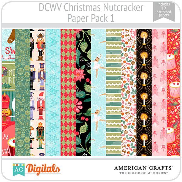 Christmas Nutcracker Paper Pack 1