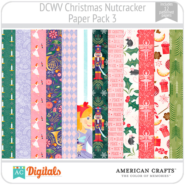 Christmas Nutcracker Paper Pack 3