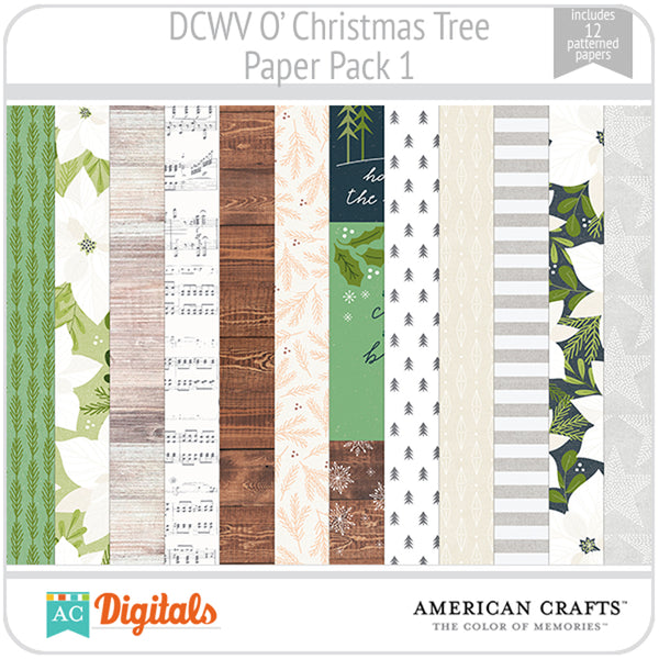 O' Christmas Tree Paper Pack 1