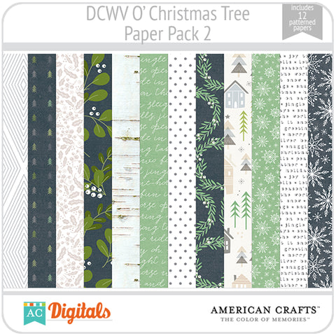 O' Christmas Tree Paper Pack 2