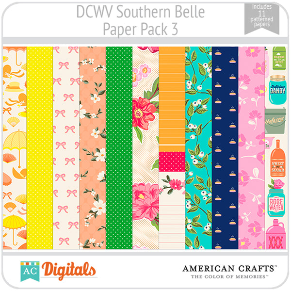 Southern Belle Paper Pack 3