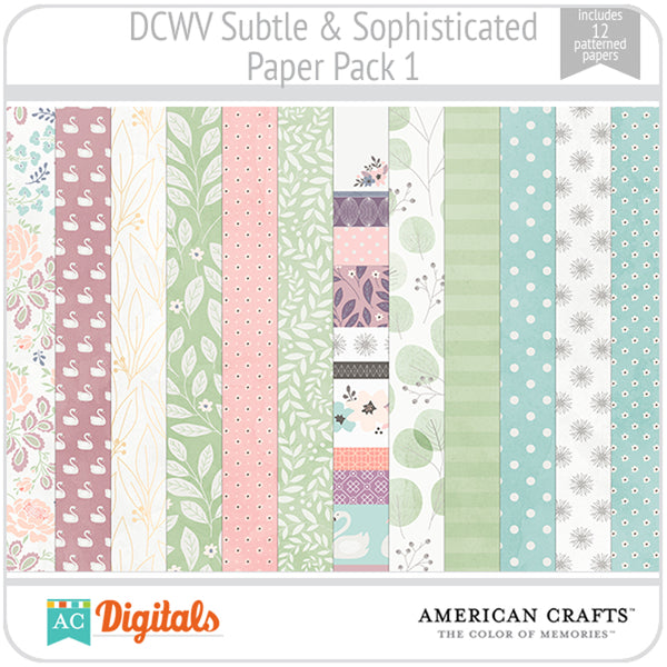 Subtle & Sophisticated Paper Pack 1