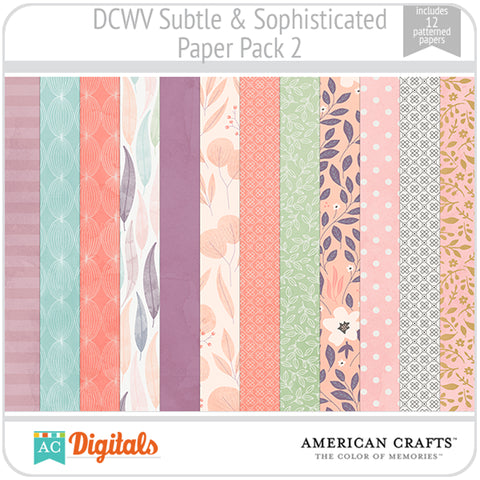 Subtle & Sophisticated Paper Pack 2