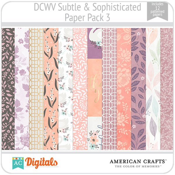 Subtle & Sophisticated Paper Pack 3